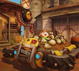 《守望先锋》全新地图渣客镇上线 跟狂鼠一起炸翻天